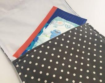 Waterproof diaper change pad clutch