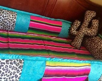 leopard cactus pillow
