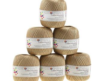 6 x 100g thread cotton Harmony #3021 Beige