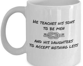 Father's Day Gifts - Inspirational Fathers Day Gift From Son - To Daddy From Daughter for Birthday - Sentimental Coffee Mug For Dad
