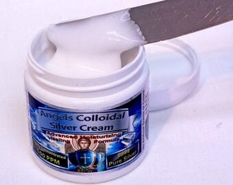 Colloidal Silver Cream Gel 4oz 100ppm Coconut oil Vitamin E