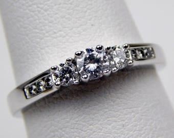 14k white gold .50 Ctw diamond ring #10512
