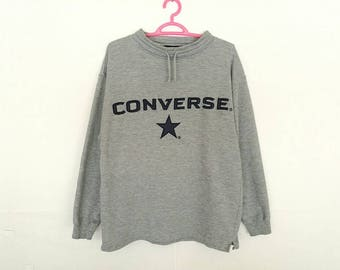 Rare!! Converse Spellout Embroidery Sweatshirt