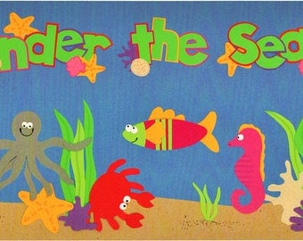 Under The Sea Title Over-alls Page Topper 6x12 Title Scrapbooking Scrapbooks Ek Success Embellishments Cardmaking Crafts