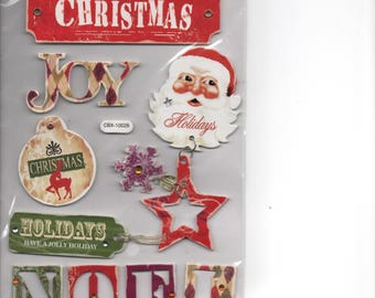 Christmas Frames Tags Chipboard Stickers Forever In Time Scrapbook Embellishments Cardmaking Crafts