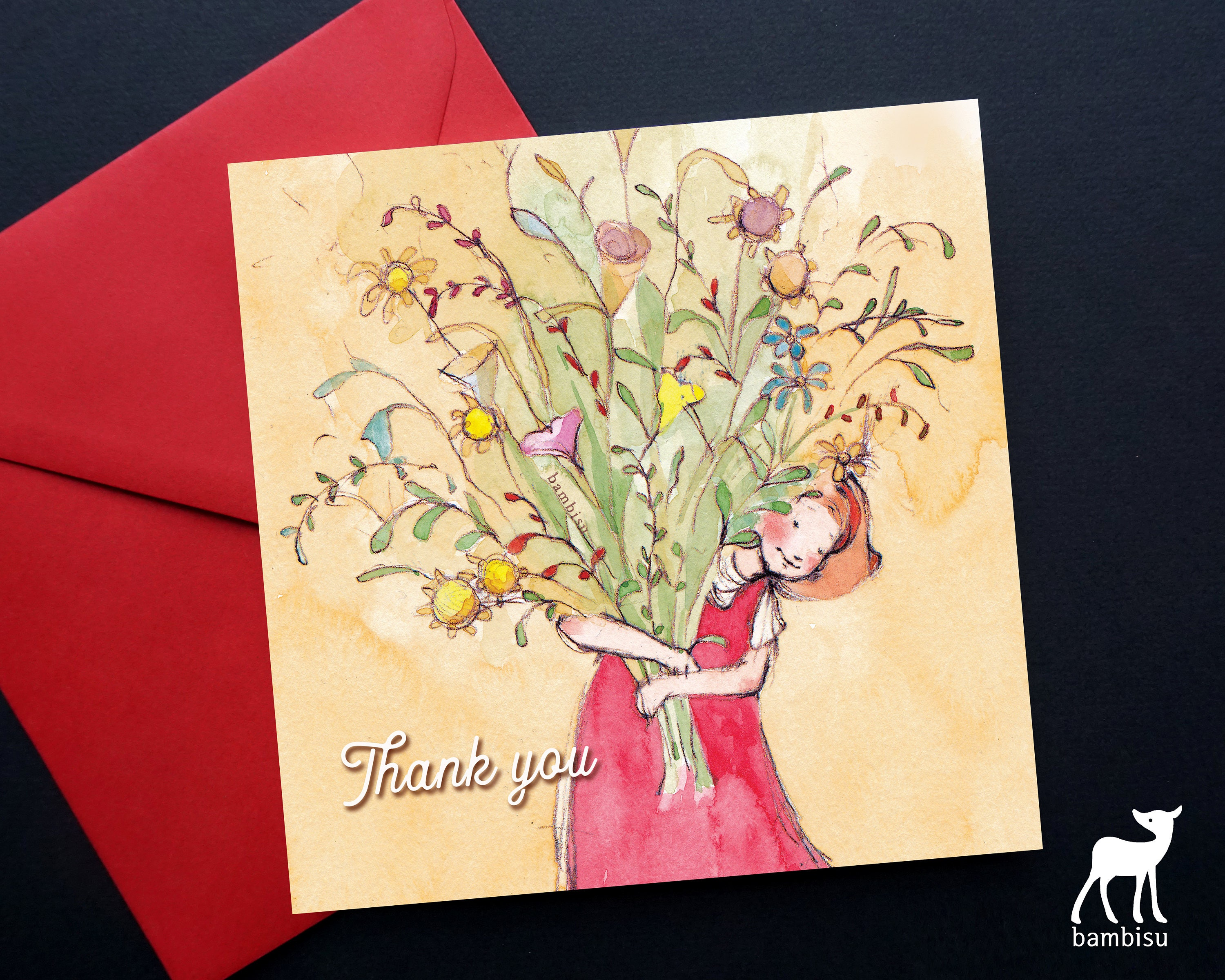 Thank You Card Greeting Card Thank You Bible Card Christian