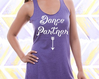 Dance Partner Maternity Tank. Funny Pregnant Announcement Tank. Maternity Shirt [M0156,M0264]