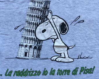 Vintage Snoopy shirt-Pisa tower Italy