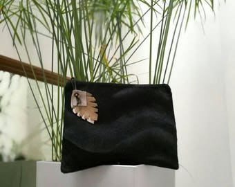 Pouch - Havana - faux fur - black - France