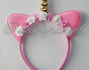 Pink Unicorn headband