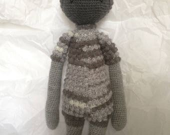 Handmade soft toy sheep gray