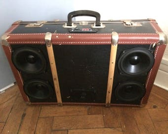 Custom Built Portable Bluetooth Vintage Suitcase Speaker