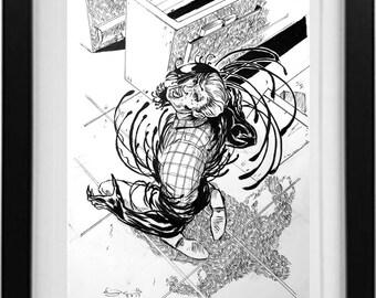 Venom Ink Drawing