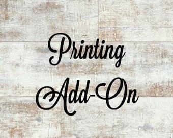 Printing Add-On - Business Card Printing - Marketing Kit Printing - Custom Printing