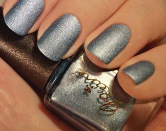 Iced Metal - Blue Metallic Matte Nail Polish