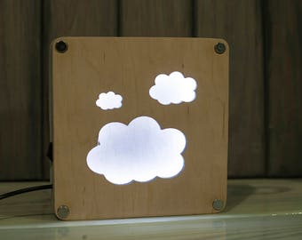Glowing clouds. Night lights. Night lamp.  Lamps for bedroom. Kids light. Nursery light.