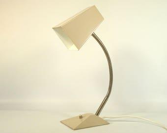 Vintage Desk Lamp / Adjustable Goosneck Lamp / Vintage Table Lamp / 70s Lamp / Vintage Table Light / Pink Lamp / Space Age
