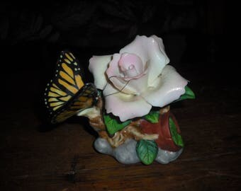 Avon's Rose and Butterfly porcelain knick-knack.