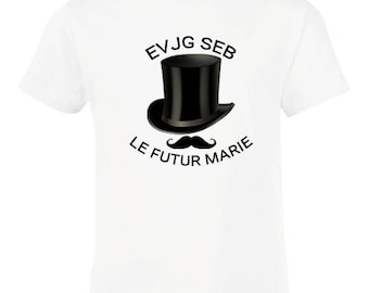 T-shirt evg personalized not expensive stag boy model top hat