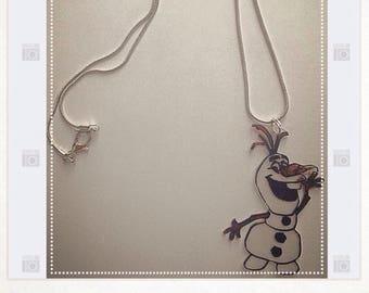 Olaf necklace small snowman snow