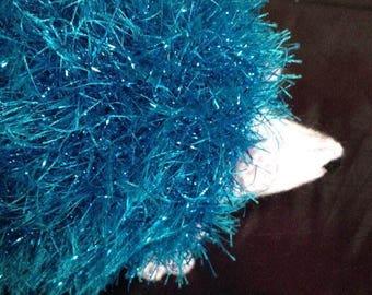 Knitted Blue Hedgehog