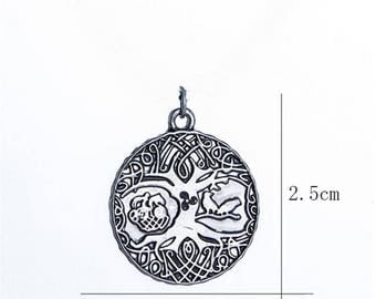 1pcs Nordic Vikings Runes Amulet Pendant ,The Tree of Life Runes Charms Pendants Nordic Talisman Charm DIY for Bracelet Necklace Accessories