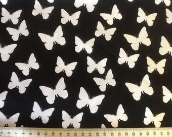 black and white butterflies patchwork fabric by WINDHAM FABRICS