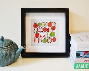 Apple Kitchen Fruit Print - Original Art Illustration