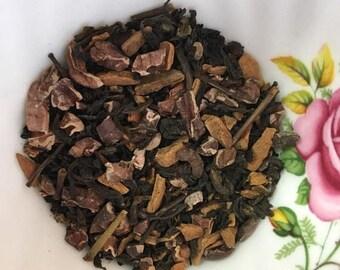 USA Decaf Chocolate Cinnamon English Breakfast Loose Leaf Tea 1.5 oz