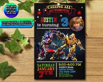 Transformers, Transformers Birthday, Transformers Invitation, Transformers Party, Transformers Birthday Invitation, Transformers Invite