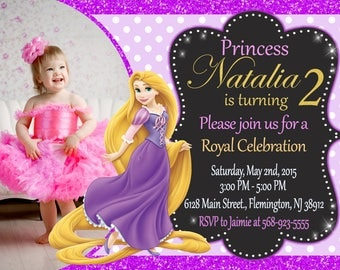 Rapunzel Tangled Invitation Birthday Party