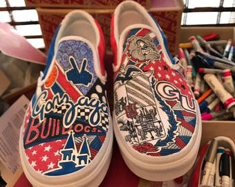 Gonzaga University Custom Sneakers