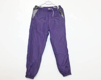 Ski pants Running Pants High Waist Purple Track Trousers Workout Pants Medium Ski Pants Lilac Track Pants Narrow Ends Oldcshool Sweatpants