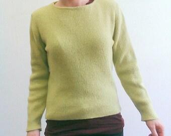 Super Soft Lime Green Vintage Jumper Size S