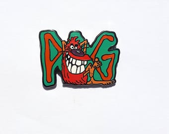 90's POGs Lapel Pin Green, POG Enamel Pin, 90's Kids Games, Slammers, Hard Enamel Hat Pin, 90's Retro, Nostalgia Gifts, Best friends