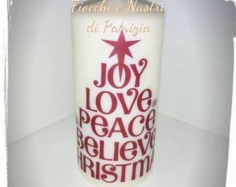 custom printed Christmas Photo crafts candle love love memories childhood anniversary wedding favors