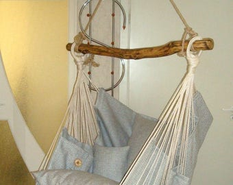 Hammock chair for home and garden Gray/gray