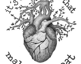 Pointillism Print - It's Our Hearts