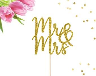 Mr and Mrs Cake Topper, Wedding Cake Topper, Bridal Shower, Wedding Centerpiece, Wedding Decorations, Wedding Sign, Engagement Party Decor
