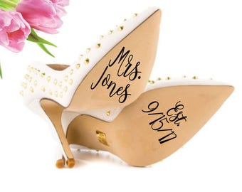 Wedding Shoe Decal, Personalized Wedding Decal, Wedding Shoe Stickers, I Do Shoe Stickers, I Do Shoe Decal, Personalized Wedding Sticker