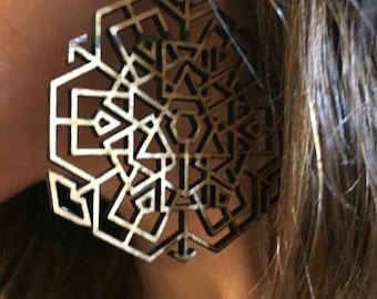 Geometric Sigil Amulet Earrings