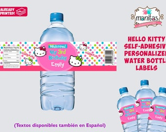 20+ Pack Hello Kitty Self-adhesive Water Bottle Label, Personalized Water Bottle Label, Hello Kitty Party, Hello Kitty Birthday, Hello Kitty