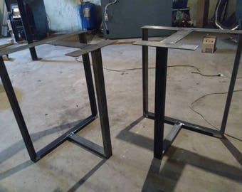 Metal Table Legs, Steel Table Legs,T Shaped Table Legs,Modern, Industrial