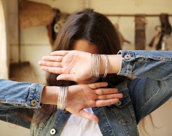 Thin Hammered Bracelet, Thin Bracelet, silver thin bangle bracelet, silver thin bracelet, silver  bangle, minimal bracelet, simple bracelet