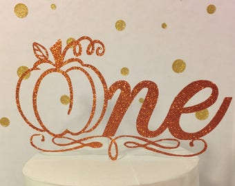 Babys first birthday cake topper, Happy Birthday, Fall, Halloween, Autumn, Cake Topper, Party Decor, Party, Topper, Personalized Cake Topper