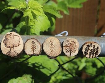 5 Tree Magnets