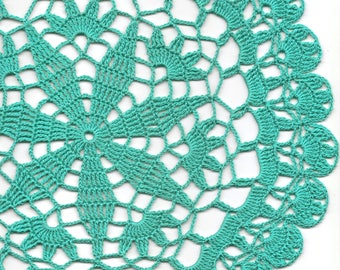 Vintage Handmade Crochet Doily Lace Lacy Doilies Wedding Decoration Home Decor Flower Mandala Dream Catcher Crocheted Round Mint