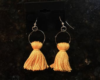 Short Hoop Chandelier Earrings