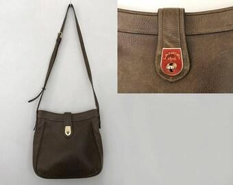 Lancel bag / vintage crossbody bags / lancel vintage / 80s bag / crossbody purse / shoulder bag purse /  crossbody leather bag / brown bag