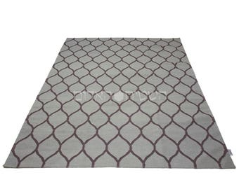 sale gray purple handmade rug geometric kilim carpet area rug living room